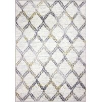 B127-IV-4X6-BH111 4 x 6 Small Transitional Luke Ivory and Gray Area Rug - Barcelona