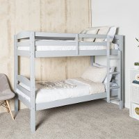 Contemporary Gray Twin-over-Twin Bunk Bed - Carolina