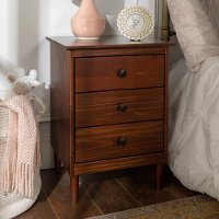 Classic Walnut Brown Nightstand