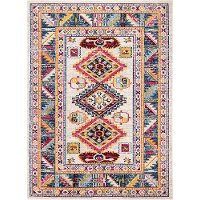 D113-IV-4X6-MH111 4 x 6 Small Transitional Zita Ivory and Blue Rug - Dakota