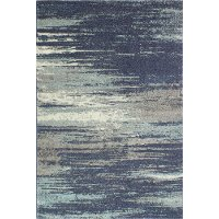 4 x 6 Small Traditional Paola Blue and Gray Area Rug - Everek