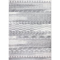 E110-GY-4X6-5665A 4 x 6 Small Traditional Nisse Light Gray Area Rug - Everek