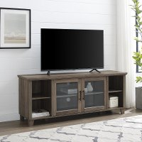58 Inch Rustic TV Stand - Grey Wash