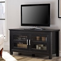 44 Inch Wood TV Stand - Black