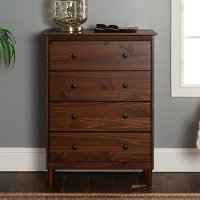 Classic Walnut Brown Chest of Drawers