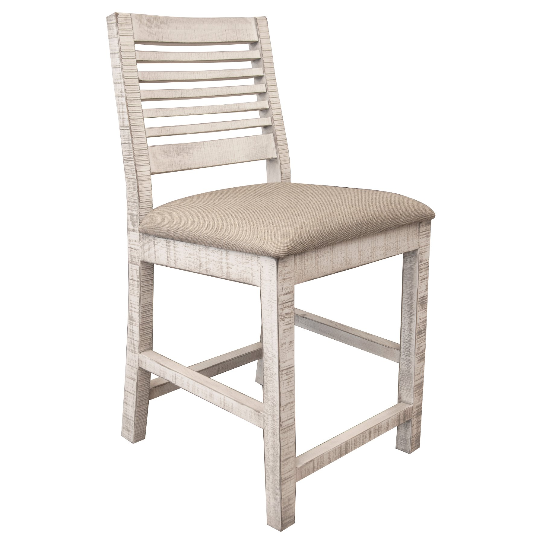 Stone 24 Inch Upholstered Counter Height Stool