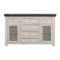 Farmhouse White and Gray Dining Room Buffet - Stone