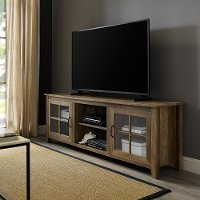 70 Inch Farmhouse Wood TV Stand - Rustic Oak