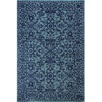 S185-BL-4X6-ST271 4 x 6 Small Contemporary Elsie Blue Rug - Chelsea