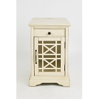 Cream Chairside Table - Craftsman