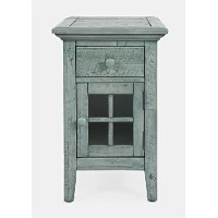 Rustic Blue Chairside Table - Rustic Shores
