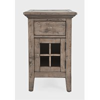Rustic Gray Chairside Table - Rustic Shores
