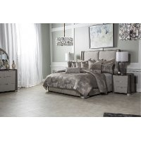 Aubrey Gray and Taupe Queen 9 Piece Bedding Collection