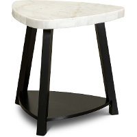 Modern Marble End Table - Trinity