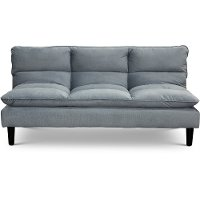 Heavenly Sky Blue Convertible Sofa Bed - Monterey