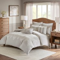 Taupe, Tan and Ivory Queen Barely There 8 Piece Bedding Collection