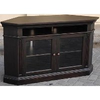 Transitional Black Corner TV Stand - Westwood