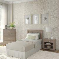 Gray Twin Headboard, Chest, and Nightstand Set - Somerset