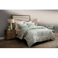 Northridge Spa Blue Queen 7 Piece Bedding Collection