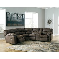 Casual Contemporary Brown Reclining Sectional Sofa - Canyon