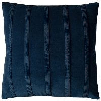 Navy Blue Vertical Stripe Throw Pillow
