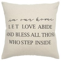 Canvas In Our Home Love Let Abide Throw Pillow