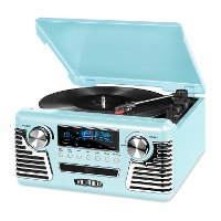 Victrola Retro Record Player with Bluetooth and 3-speed Turntable - Blue