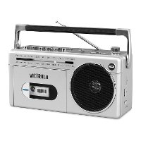 Mini Bluetooth Cassette Player Boombox - Silver