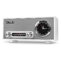 Bluetooth Analog Clock Stereo - White
