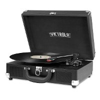 Bluetooth Suitcase Record Player - Black