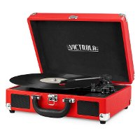 Bluetooth Suitcase Record Player - Red