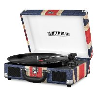 Bluetooth Suitcase Record Player - Union Jack