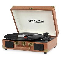 Bluetooth Suitcase Record Player - Brown