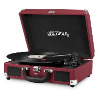 Bluetooth Suitcase Record Player - Marsala