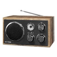 Wooden Desktop Bluetooth Radio - Gray
