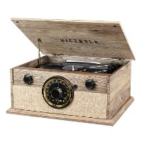 Victrola 4-in-1 Modern Bluetooth Turntable with FM Radio