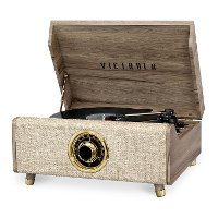 Victrola Bluetooth Record Player with 3-Speed Turntable with FM Radio