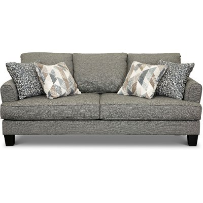 Casual Contemporary Steel Gray Sofa - Bryn