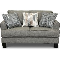 Casual Contemporary Steel Gray Loveseat - Bryn