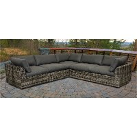 Gray 5 Piece Patio Sectional - Cirrus