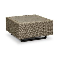 Woven Patio Coffee Table with Ice Bucket - Vale