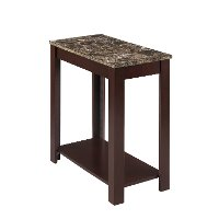 Faux Marble Chairside Table - Devon