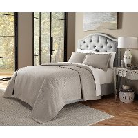 Port Orleans Soft Gray Queen 3 Piece Bedding Collection