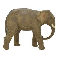 Gray Resin Elephant Statue