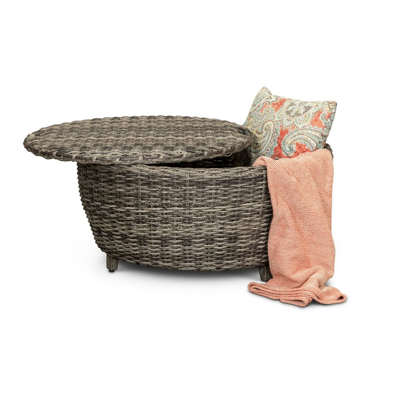 Driftwood Gray Patio Round Coffee Table