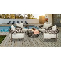 Driftwood Gray 5 Piece 36 inch Patio Chat Group - Marana