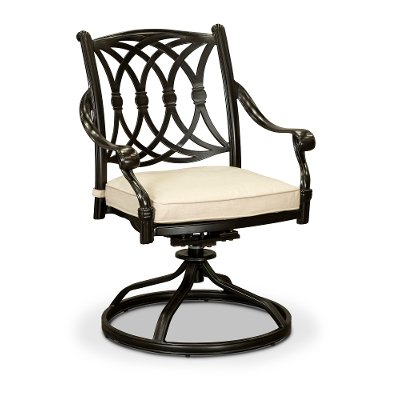 Cinnamon Patio Swivel Rocker Chair - Montreal