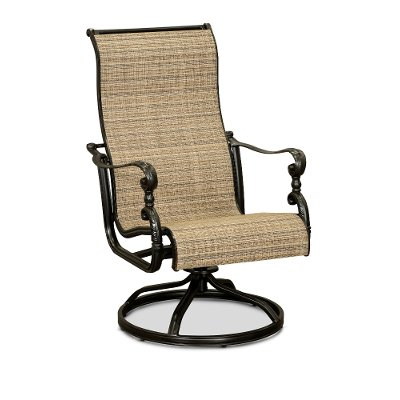Cinnamon Sling Swivel Patio Chair - Montreal