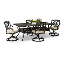 Traditional Swivel 5 Piece Patio  Set - Montreal