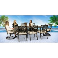 Traditional 9 Piece Patio Set - Montreal